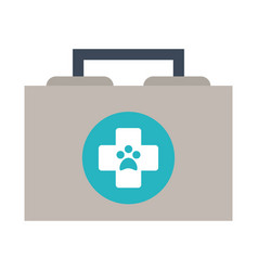 veterinarian first aid kit icon image vector image