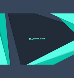 Abstract blue and green over lap paper cut vector