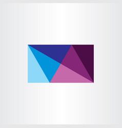 Abstract business card geometric design triangles vector