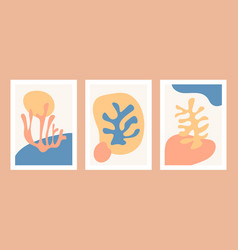 abstract matisse organic shapes coral shape vector image