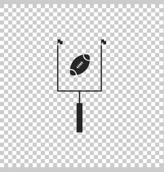 american football with goal post icon isolated vector image
