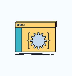 Api app coding developer software flat icon green vector