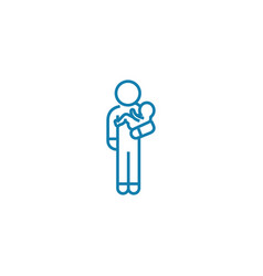 babysitter linear icon concept babysitter line vector image