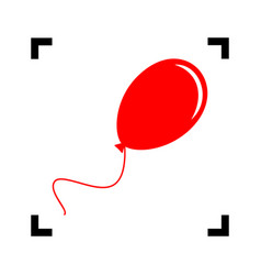 balloon sign red icon inside vector image