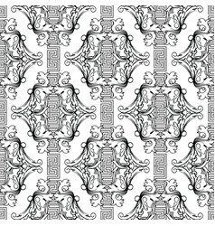 Baroque black and white creative seamless pattern vector
