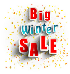 big winter sale background banner vector image
