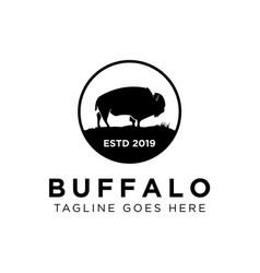 buffalo logo design vector image