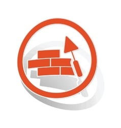 Building wall sign sticker orange vector