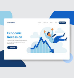 Businessman with economic recession vector