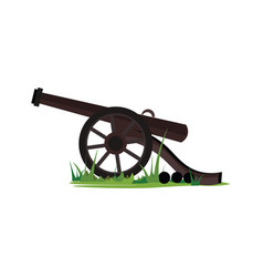 Canon on grass or color vector