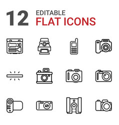 capture icons vector image