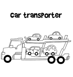 Car transporter of art vector image