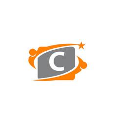 Career coaching initial c vector