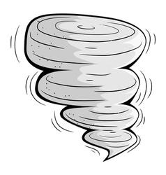 Cartoon tornado eps10 vector