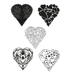 Collection of heart vector