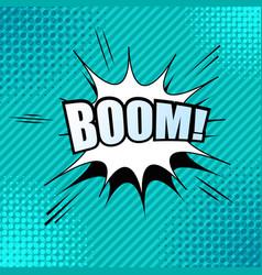 Comic boom wording template vector