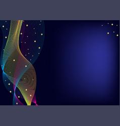 creative business dark blue card templates vector image