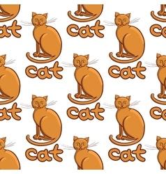 Cute flat cats pattern vector