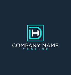Dh hd initial logo luxury design inspiration vector