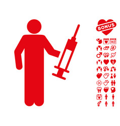 Drug dealer icon with valentine bonus vector