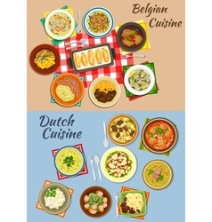Dutch and belgian cuisine icon for food design vector
