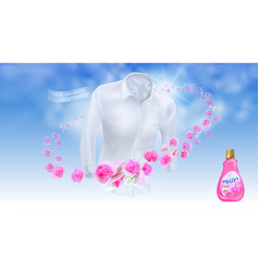 fabric conditioner long lasting fragrance vector image