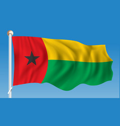flag of guinea-bissau vector image