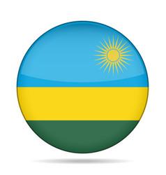 flag of rwanda shiny round button vector image