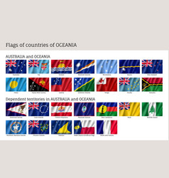 flags australia and oceania vector image
