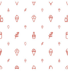 Flavor icons pattern seamless white background vector