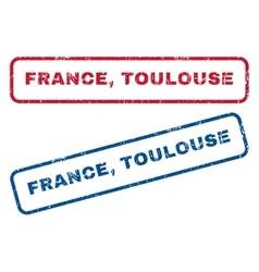 France Toulouse Rubber Stamps vector image
