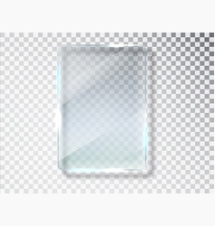 Glass plates glass banners isolated on vector