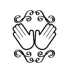 hands icon image vector image