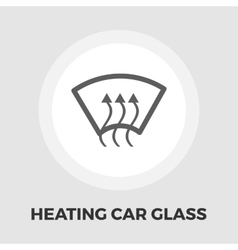 Heating glass flat icon vector