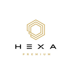 hexa hexagon logo icon vector image