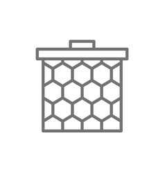 honeycomb frame line icon vector image