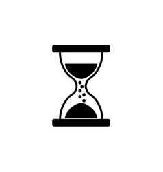 hourglass icon black on white background vector image