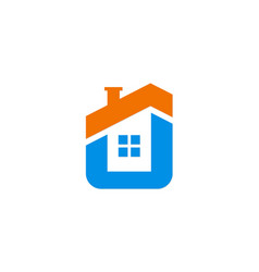 house icon company logo vector image