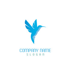 Hummingbird logo vector