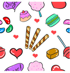 Ilustration candy sweet doodles vector