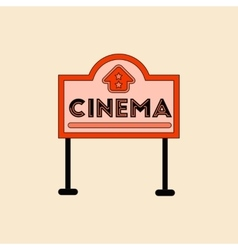 In flat style cinema sign vector