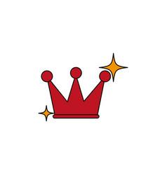 Isolated casino crown fill design vector
