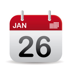 january calendar stand up vector image