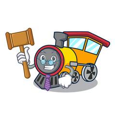 Judge train mascot cartoon style vector