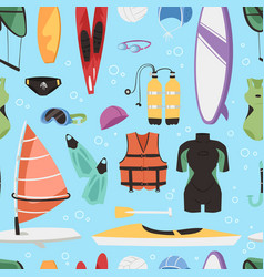 kite boarding fun ocean extreme water sport canoe vector image