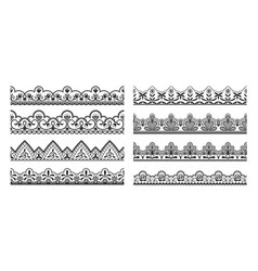lace borders seamless vintage decorative ribbons vector image