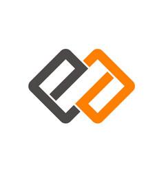 Letter ea logo design template vector