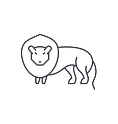 lion line icon concept lion linear vector image