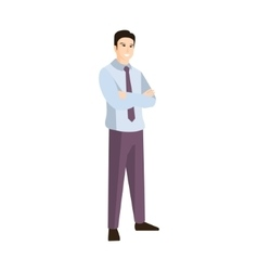 Man In Shirt And Black Tie Part Of The Collection vector image