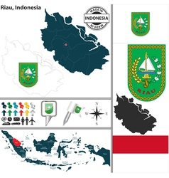 Map of riau vector